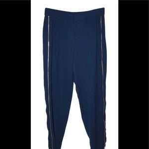 Zara relaxed skinny zipper drop-waist trousers